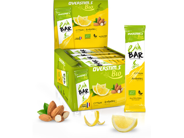 OVERSTIM.s E Organic Bar Box 25x32g, Lemon Almond
